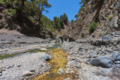 Caldera de Taburiente, valley at La Palma Stock Photo
