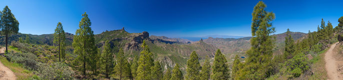 Caldera de Tejeda Panorama Royalty Free Stock Images