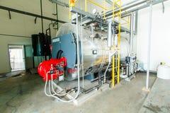 Caldera de vapor del gas Foto de archivo libre de regalías