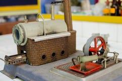 Caldera de vapor y equipo modelo del motor Imagenes de archivo