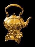 Caldera del oro para el té o el café Imagen de archivo libre de regalías