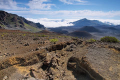 Caldera del volcán de Haleakala en la isla de Maui Fotografía de archivo libre de regalías