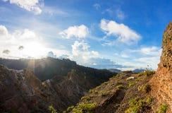 Caldera del vulcano di Kelimutu, Flores, Indonesia Fotografia Stock Libera da Diritti