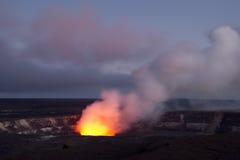 Caldera di Kilauea Fotografia Stock