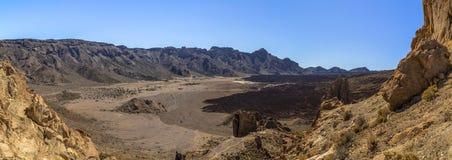 Caldera di Teide panoramica Fotografia Stock Libera da Diritti