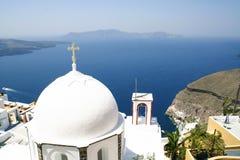 Caldera en la isla de Santorini Fotos de archivo libres de regalías