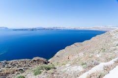 Caldera Grecia di Santorini Fotografia Stock