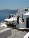 Caldera greek islands hotel traditional h Royalty Free Stock Photography