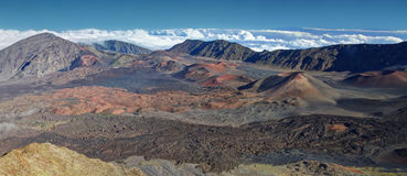 Caldera of the Haleakala volcano - Maui, Hawaii Stock Photo