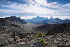 Caldera of the Haleakala volcano in Maui island Royalty Free Stock Photos