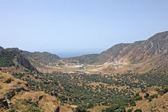 Caldera on the island of Nisyros, Greece Royalty Free Stock Photos