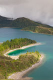 Caldera Lago di Fogo - lake on Azores Islands Royalty Free Stock Image