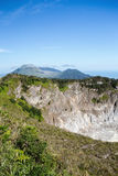 Caldera of Mahawu volcano, Sulawesi, Indonesia Stock Photos