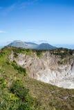 Caldera of Mahawu volcano, Sulawesi, Indonesia Stock Photos