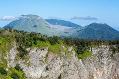 Caldera of Mahawu volcano, Sulawesi, Indonesia Royalty Free Stock Images