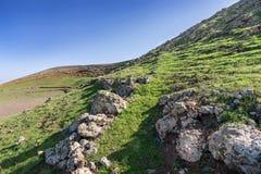 In the caldera of the Montana Blanca, Lanzarote Stock Photography