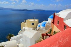 Caldera, Oia, Santorini, Greece Royalty Free Stock Photography