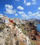 Caldera, Oia, Santorini, Greece Royalty Free Stock Images