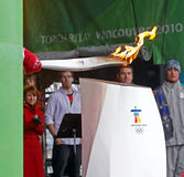 Caldera olímpica de la antorcha Fotos de archivo