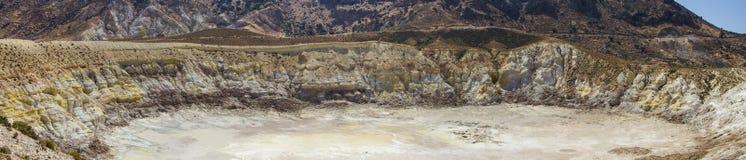 Caldera panorama, Nisyros, Greece Stock Images