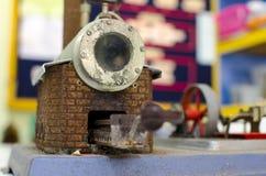 Caldera para el equipo del modelo del motor de vapor Fotografía de archivo