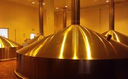Caldera para elaborar cerveza, cervecería Foto de archivo libre de regalías