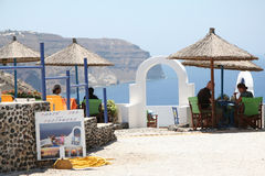 Caldera resort, Santorini, Greece Royalty Free Stock Image