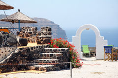 Caldera resort, Santorini, Greece Royalty Free Stock Photography