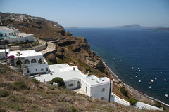 Caldera resort, Santorini, Greece Royalty Free Stock Photos