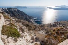Caldera Santorini royaltyfria bilder