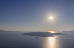 Caldera of Santorini Royalty Free Stock Photography