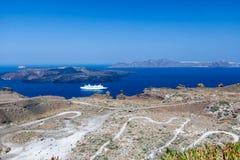 Caldera Santorini Greece Royalty Free Stock Photos