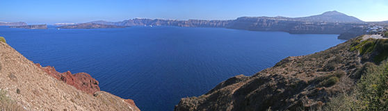 Caldera of Santorini Royalty Free Stock Photos