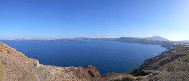 Caldera of Santorini Stock Image