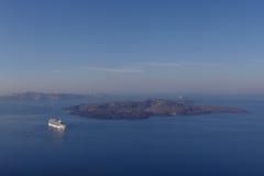Caldera of Santorini Stock Photo