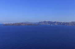 Caldera of Santorini volcano Stock Photography