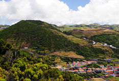 Caldera on Sao Jorge island Royalty Free Stock Image