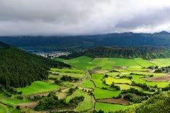 Caldera Seven Cities. Caldera Sete Cidades on the island Sao Miguel, Azores, Portugal stock photos