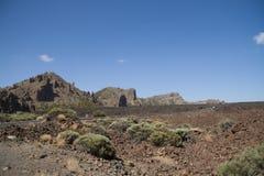 Caldera of Teide, Tenerife. Road in the caldera of Teide, Tenerife, Canary islands, Spain Stock Photography