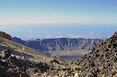 Caldera of the Teide volcano. On Tenerife, Canary Islands stock photo