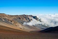 Caldera van de Haleakala-vulkaan, Maui, Hawaï Royalty-vrije Stock Afbeeldingen