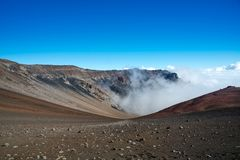 Caldera van de Haleakala-vulkaan, Maui, Hawaï Royalty-vrije Stock Foto's