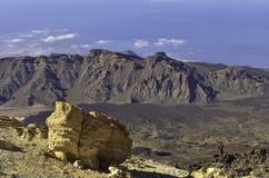 Caldera van de Teide-vulkaan Royalty-vrije Stock Afbeeldingen