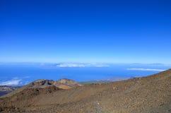 Caldera van de Teide-vulkaan Stock Fotografie