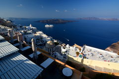 Caldera view from Fira. Santorini, Cyclades islands. Greece Stock Images