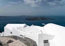 Caldera view in Santorini Stock Photo