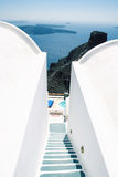 Caldera View, Santorini. Scene of a resort overlooking view of caldera Royalty Free Stock Image