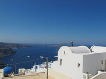 Caldera view in Santorini Stock Image