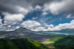 Caldera of the volcano Stock Images