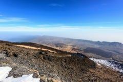Caldera of volcano El Teide on Tenerife island, Spain Royalty Free Stock Photo